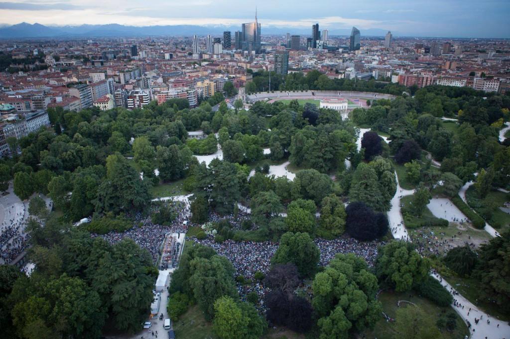 Parco Sempione durante Piano City Milano