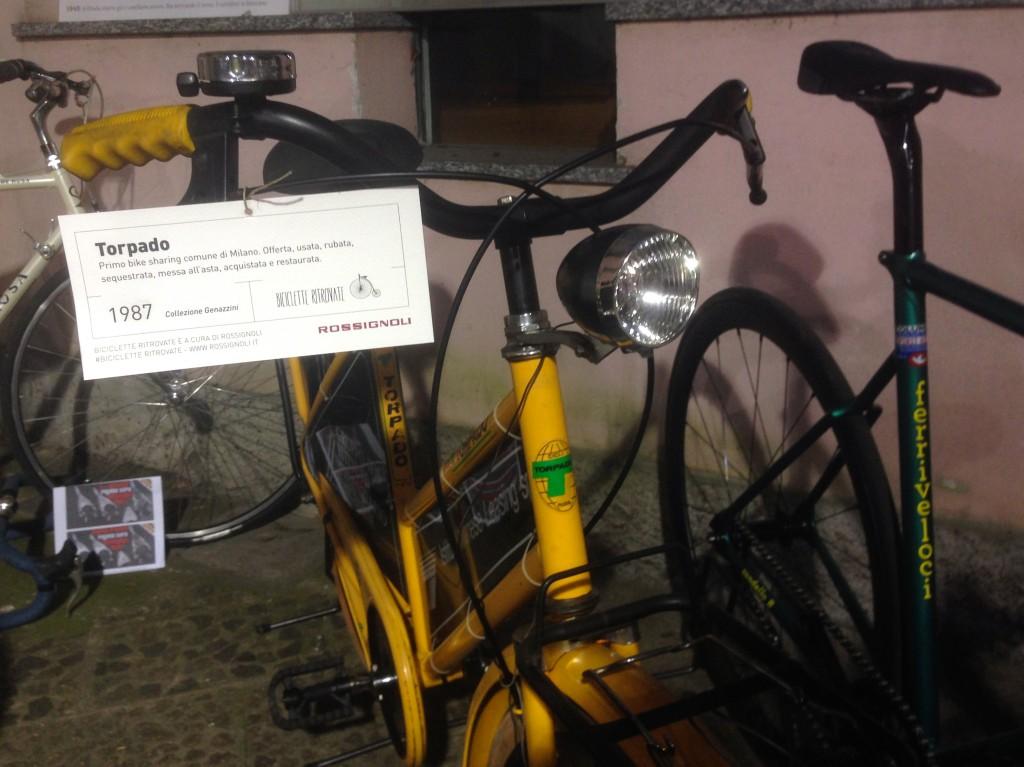 La bici del primo bike sharing di Milano